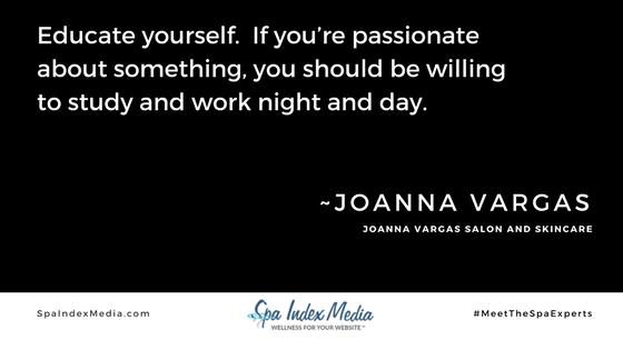 Joanna Vargas #MeetTheSpaExperts